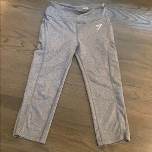 Gymshark DRY Heathered Gray Side Pocket Leggings
